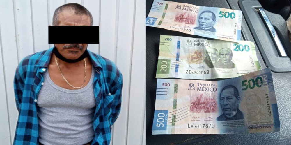 Detienen a sujeto que intentó pagar sus cervezas con billetes falsos en Aguascalientes