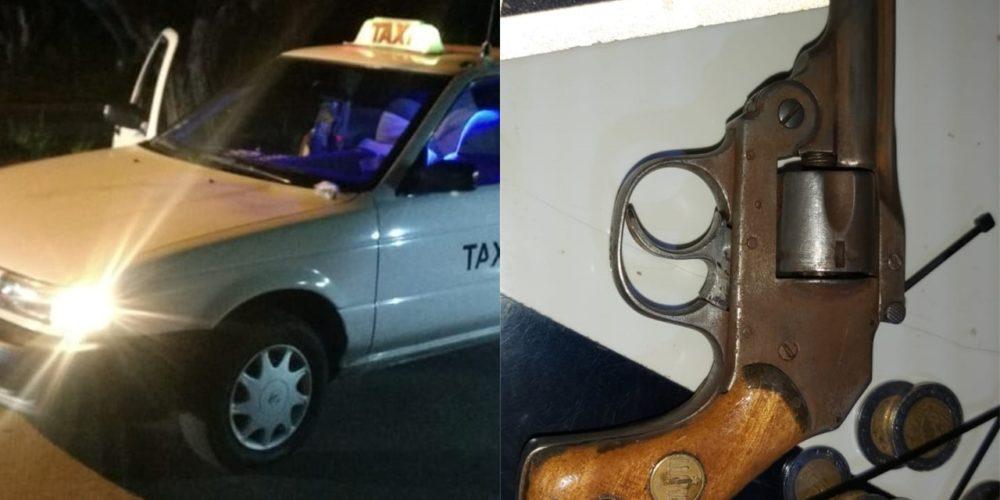Detienen a tres que viajaban en taxi con una pistola y drogas en Valle de las Trojes