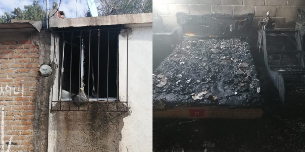 Se incendia vivienda deshabitada en Cumbres II