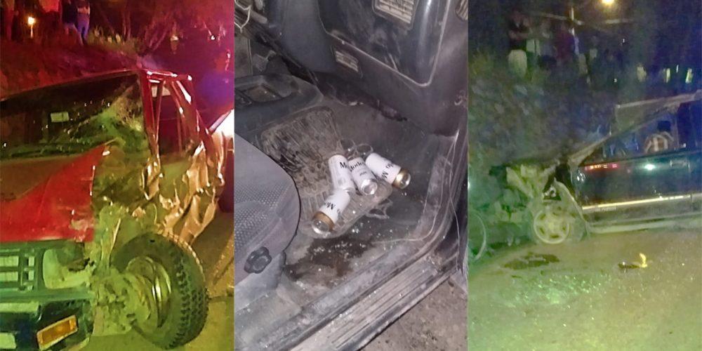 Dos menores resultan lesionados tras choque de vehículos en Jesús María