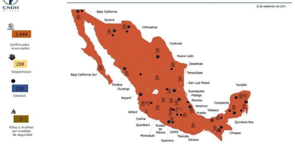 Solo Aguascalientes mantiene sus Ceresos libres de Covid-19