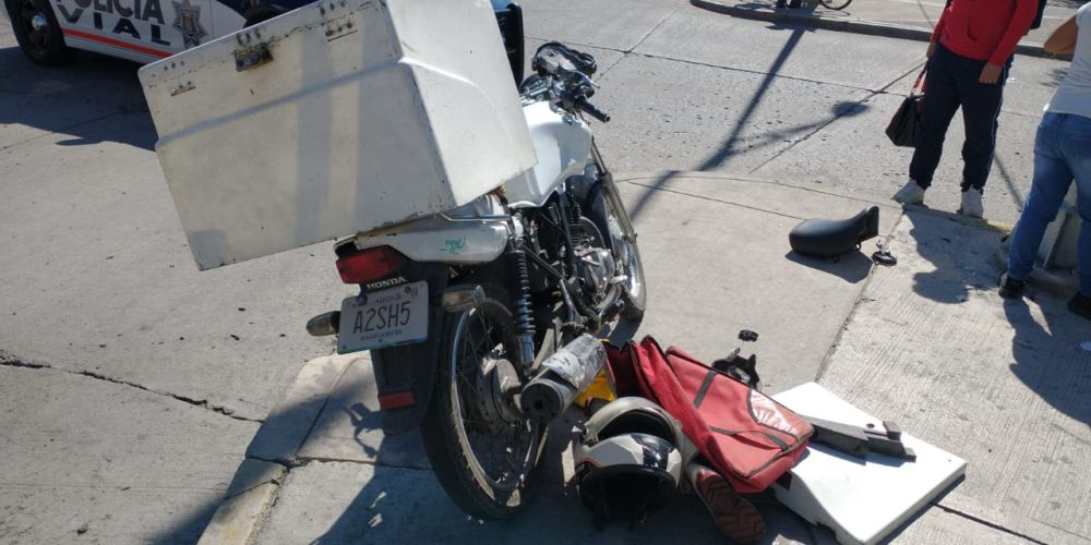 Grave sexagenario atropellado por motociclista en Aguascalientes