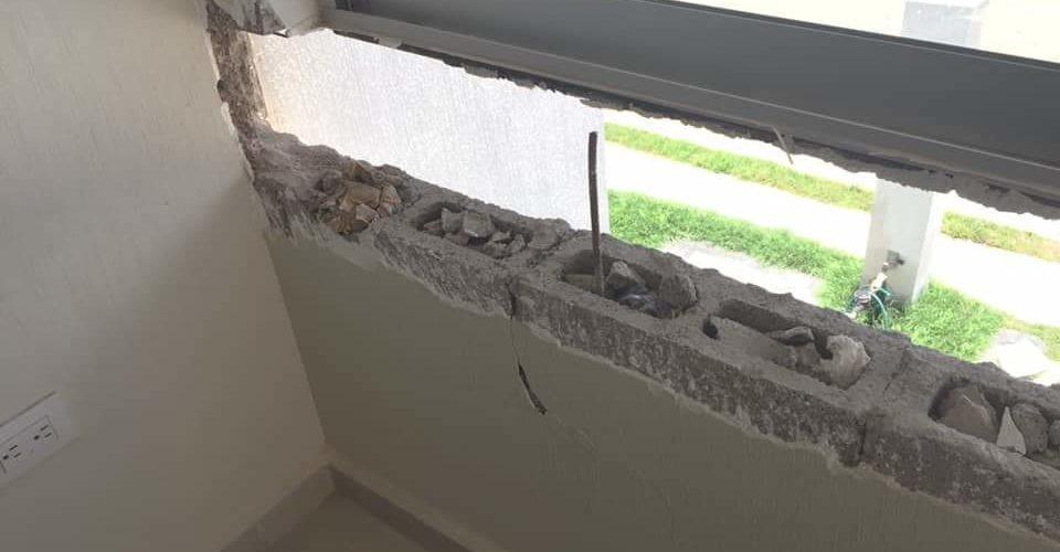 Denuncian mala calidad en construcción de viviendas en  La Aurora 2 de Grupo San Cristóbal