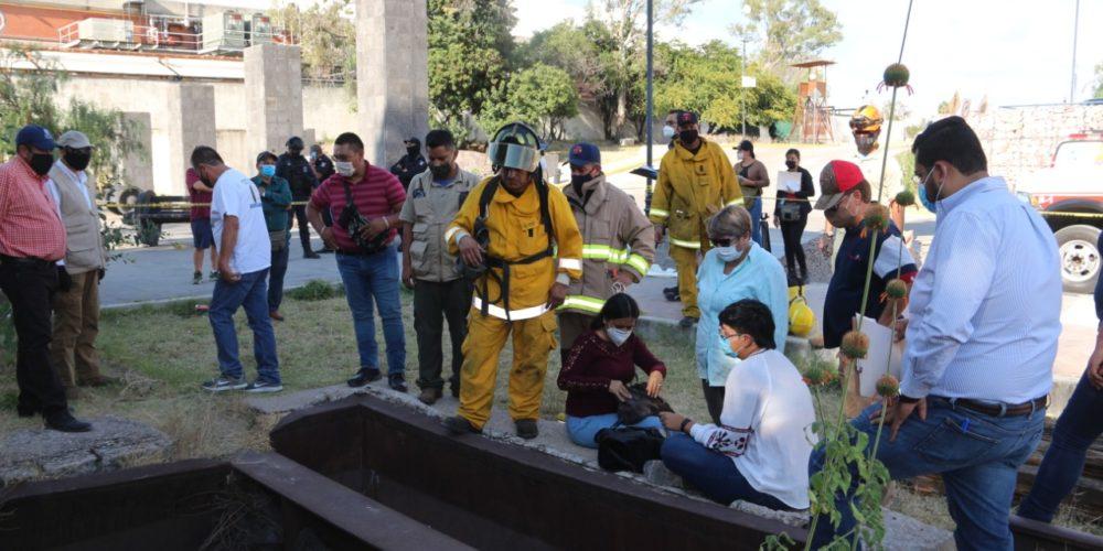 Fiscalía de Aguascalientes busca desaparecidos y hayan huesos al parecer de can