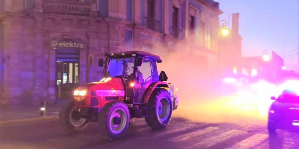 Guardia Sanitaria realiza desinfección en calles de la ciudad
