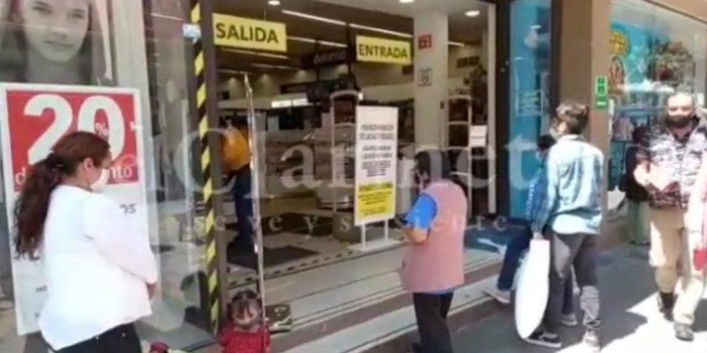 Denuncian discriminación en tienda departamental de Aguascalientes