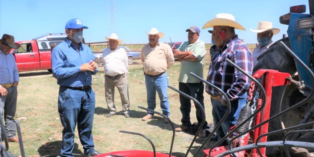Brindan apoyos para el sector agrícola en Jesús María