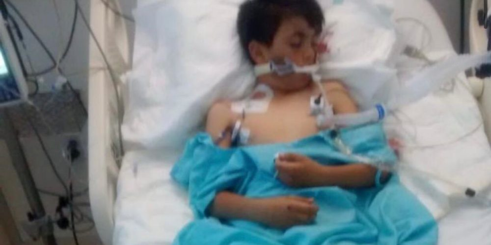 Piden apoyo para niño atropellado en Asientos, Aguascalientes