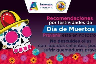 Alertan por accidentes en casa por festividades de Día de Muertos