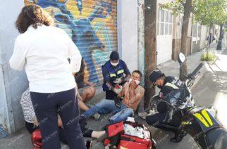 Choque desigual dejó 3 heridos en el centro