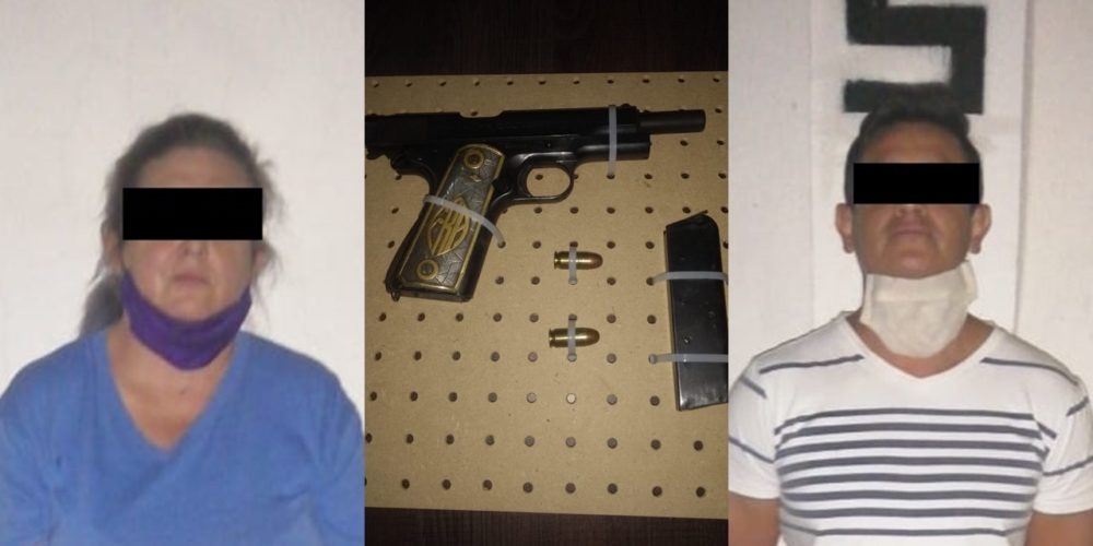 Detienen a pareja que portaba una pistola en JM
