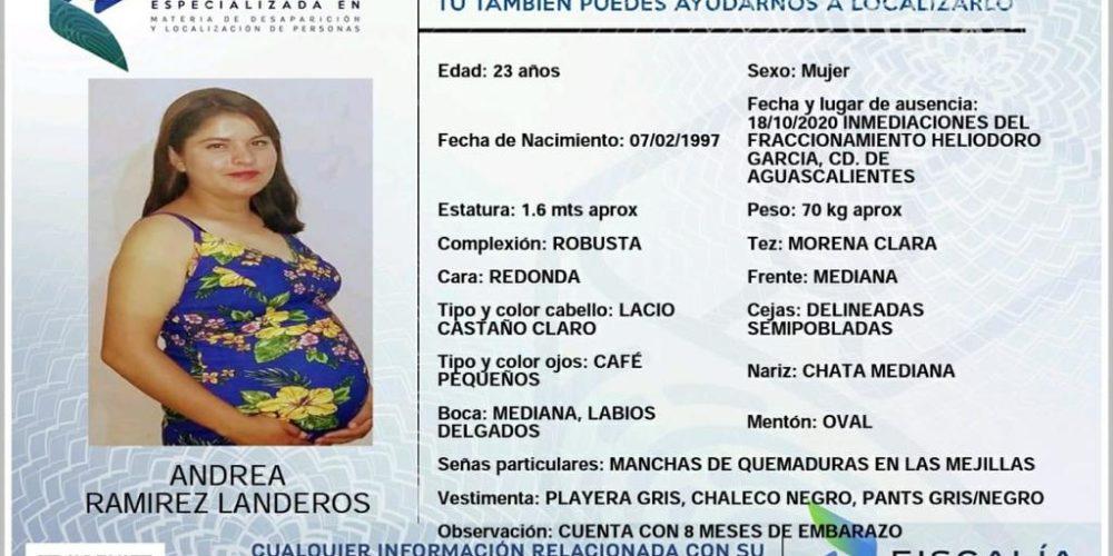 Se busca a Andrea Ramírez Landeros