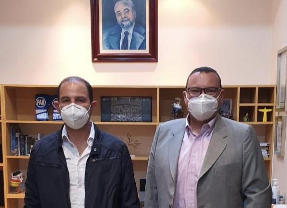 Se reúne Paulo Martínez con Marko Cortés