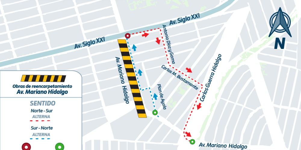 Anuncian ajustes en rutas de urbanos que circulan por Mariano Hidalgo
