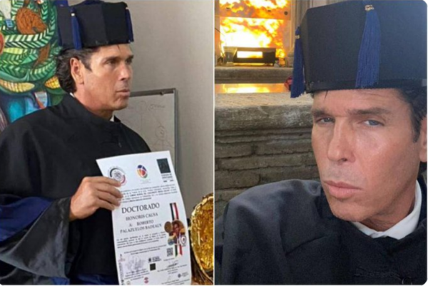 Roberto Palazuelos recibe doctorado Honoris Causa