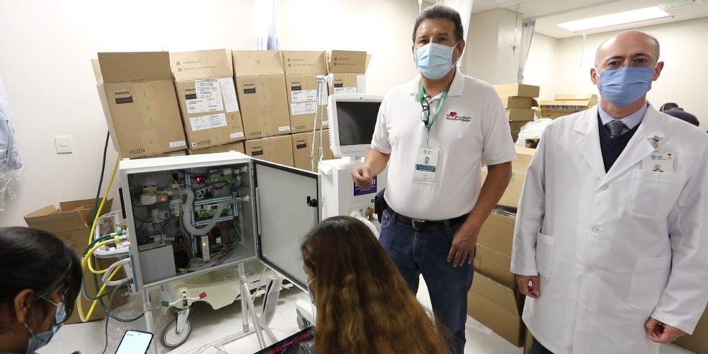 Llegan 45 ventiladores para atender a pacientes Covid-19 en el HH