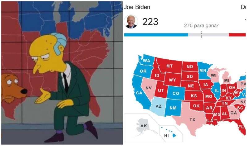 Los Simpsom predijeron el triunfo de Joe Biden