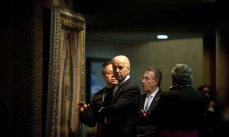 Viralizan foto de Joe Biden en la Basílica de Guadalupe