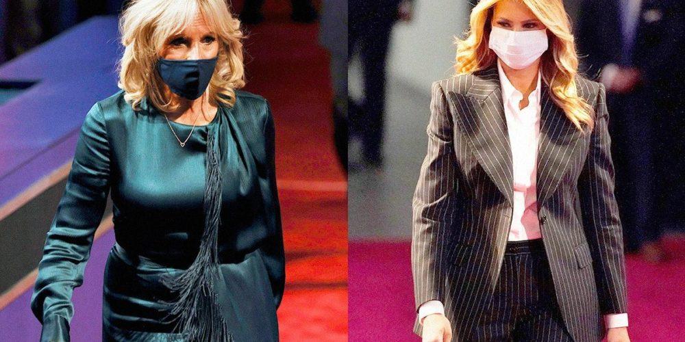 Los estilos opuestos de Melania Trump y Jill Biden