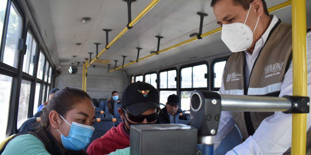 Vigilan cumplimiento de protocolos en transportes públicos de Aguascalientes