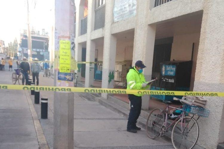 Fallece hombre en calles de la zona centro de Rincón de Romos