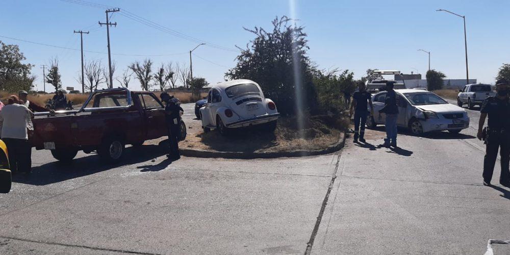 4 lesionados tras carambola al Sur de la ciudad