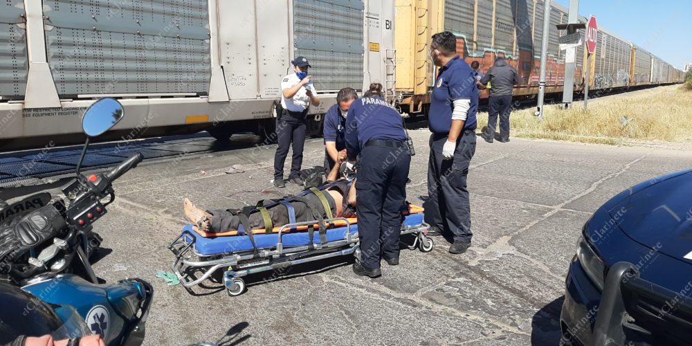 Lo arrolla el tren en Las Hadas y agoniza