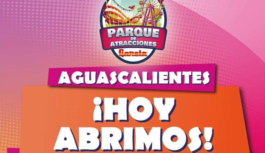 Parque de diversiones vuelve a abrir sus puertas en Aguascalientes