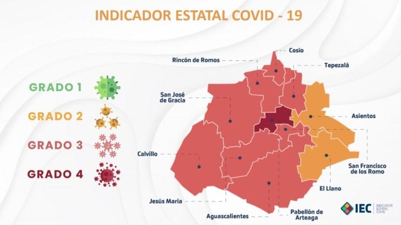 Dos municipios pasan a color naranja en el Indicador Estatal de Covid-19