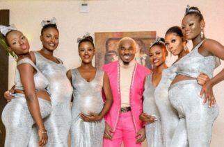 Hombre causa polémica al llevar a sus 6 novias embarazadas a una fiesta