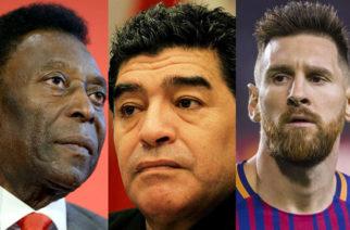 Así se despidieron Pelé y Messi de Diego Maradona