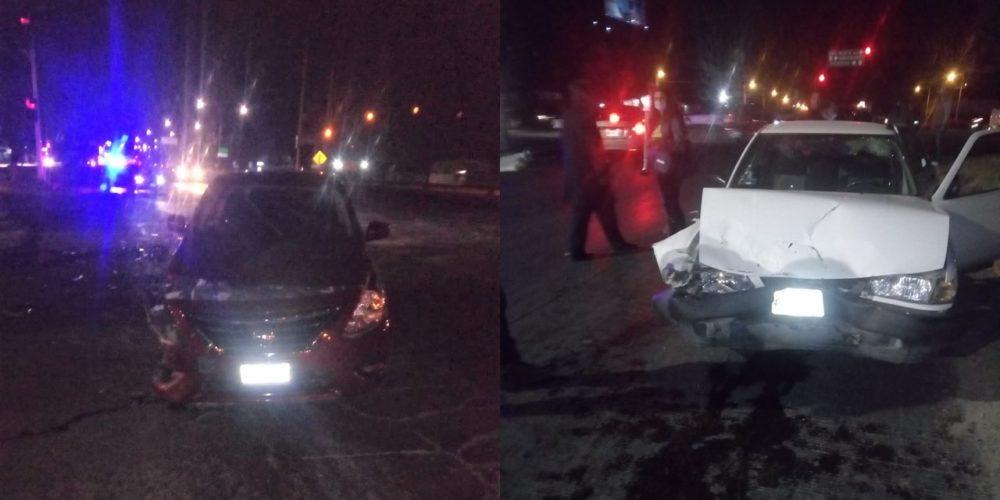 Tres lesionados en accidente de tránsito en Paseos de Aguascalientes