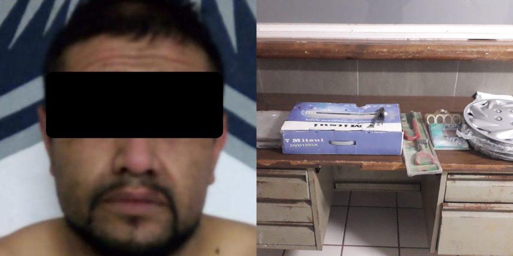"""Detienen a """"El Chaparro"""" por saquear un negocio en Rincón de Romos"""