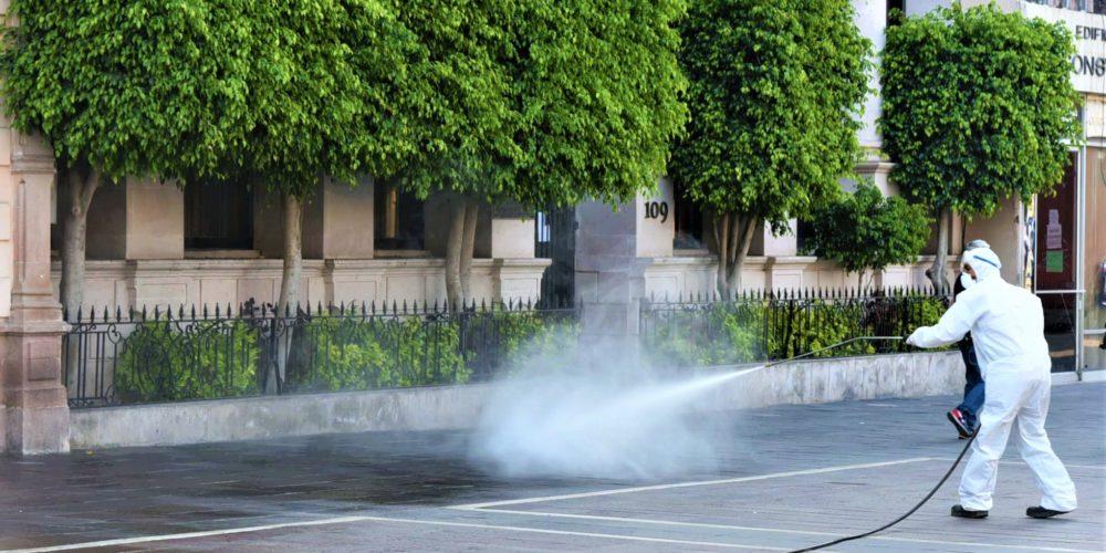 Se realizaron más de 3 mil servicios de limpieza y sanitización en la capital