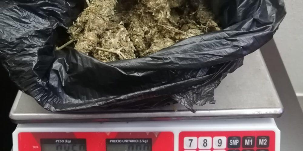 Detienen a distribuidor de drogas en Pabellón de Arteaga