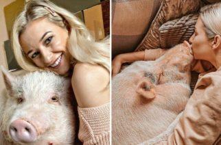 Vive con un cerdo de 80 kg y lo trata como a su hijo