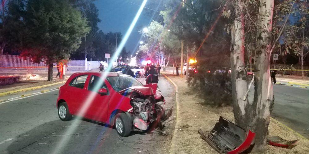 Muere jovencita atrás del Cedazo en accidente vial