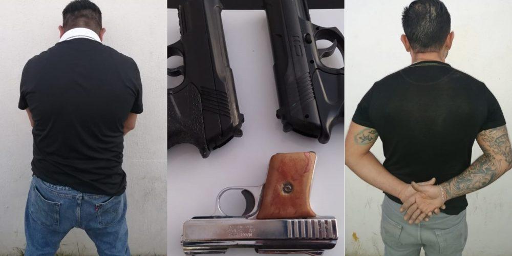 Detienen a par de sujetos armados en el Infonavit Morelos