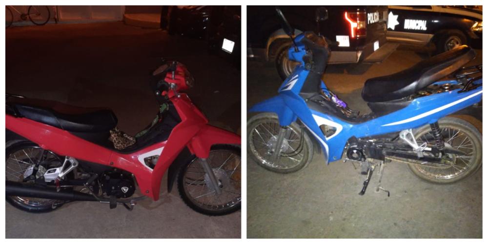 Conducían motocicletas con reporte de robo y fueron detenidos