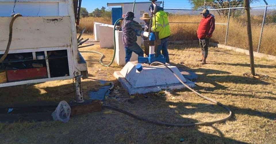 Regularizan el servicio de agua en Rincón de Romos