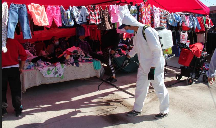 Municipio refuerza acciones de limpieza en tianguis