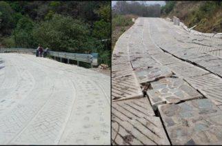 INPI confirma fractura de vialidad creada con programa federal en Oaxaca