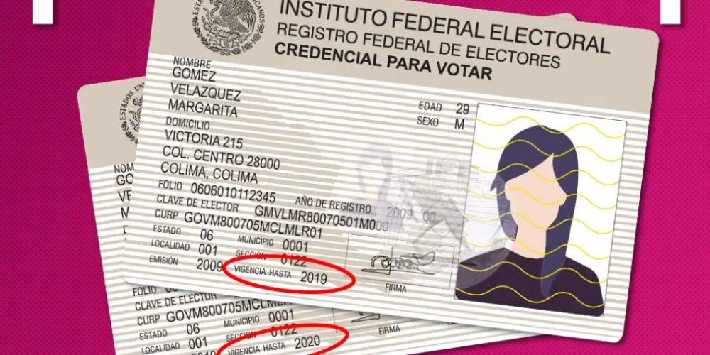 Credenciales con vigencia 2019 y 2020 serán válidas para votar el 6 de junio