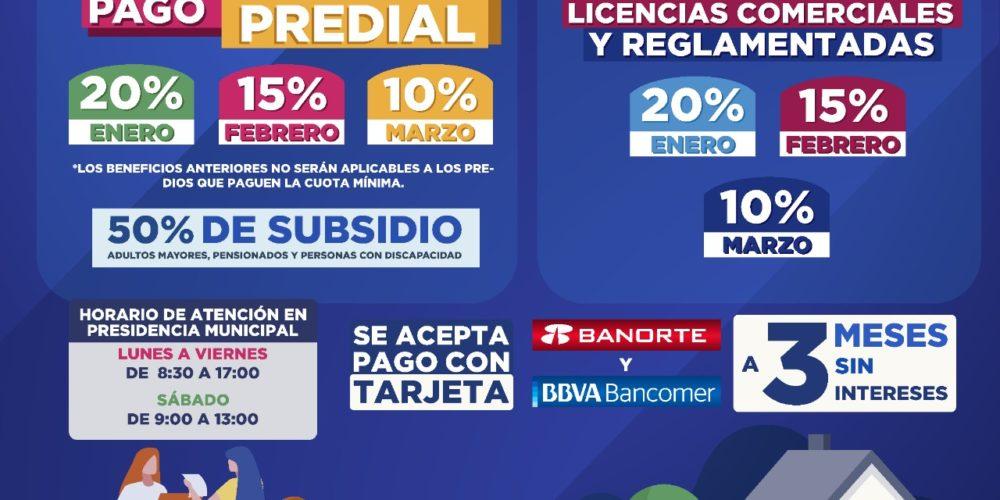 Otorgará Rincón de Romos  subsidios en pago de predial y licencias comerciales