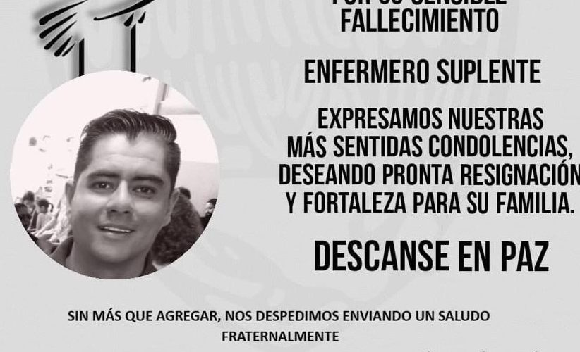 Fallece enfermero del Issste en Aguascalientes por Covid