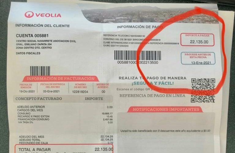 Se ensaña Veolia con instituciones de beneficencia de Aguascalientes