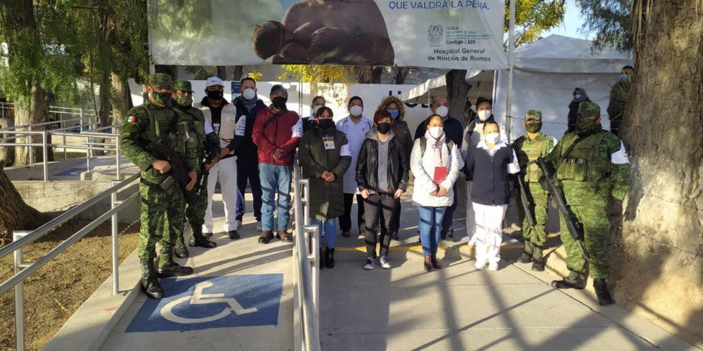 Más de 200 vacunas anti-Covid llegan al Hospital General de Rincón de Romos
