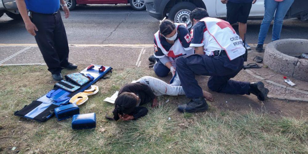 Se registra atropello de un menor en Avenida Universidad