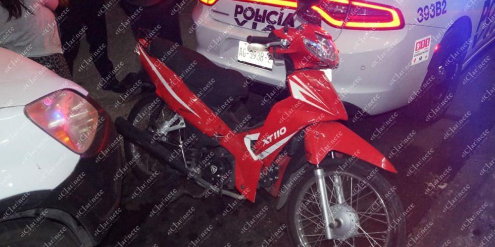 Atropelló a motociclista en el Rodolfo Landeros y se dio a la fuga