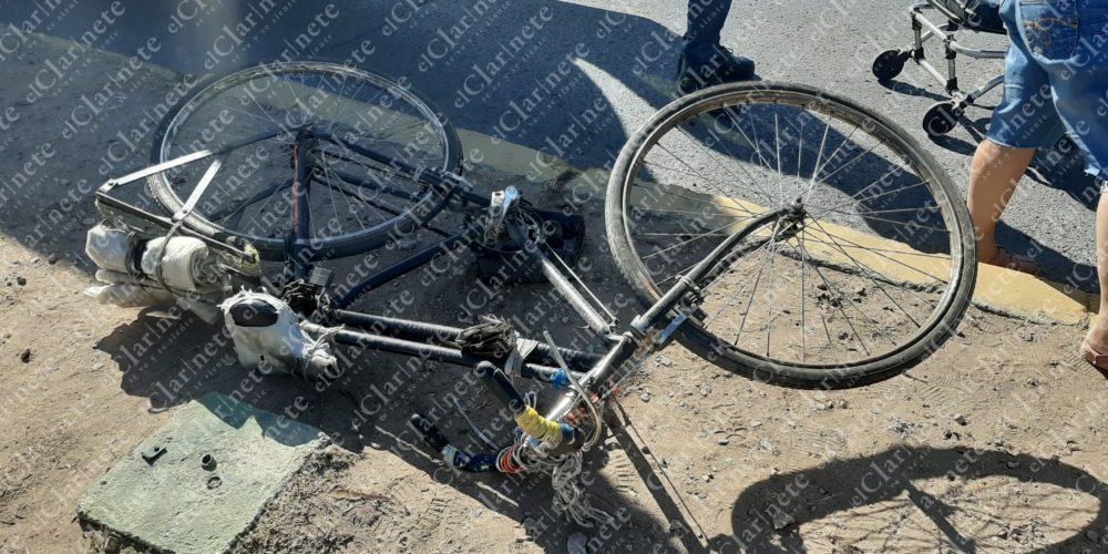 Atropellan a ciclista en La Constitución; está grave